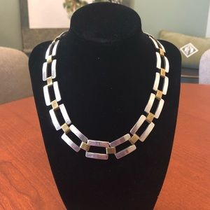 Gold and silver choker